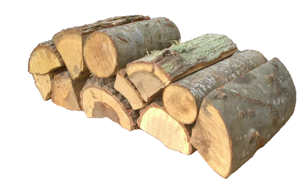 A small stack of kiln dried hardwood logs